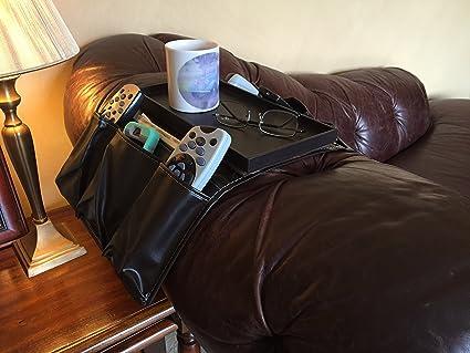 Piel sintética marrón TV mando a distancia soporte 8 ...