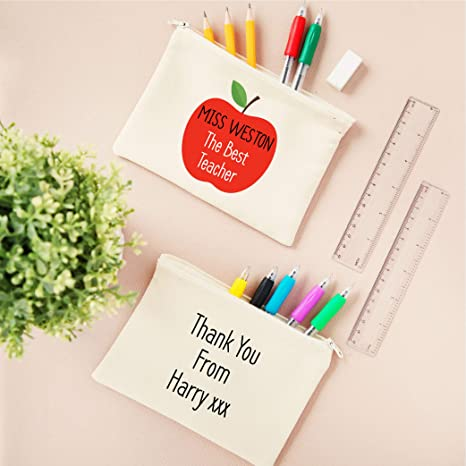 Estuche personalizado para lápices con mensaje de agradecimiento para el mejor profesor: Amazon.es: Oficina y papelería