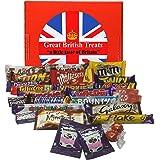 British Foods Worldwide Best of British Chocolate Gift Box 25 Bars 980g (2.16lbs) | Cadbury, Nestlé, Mars