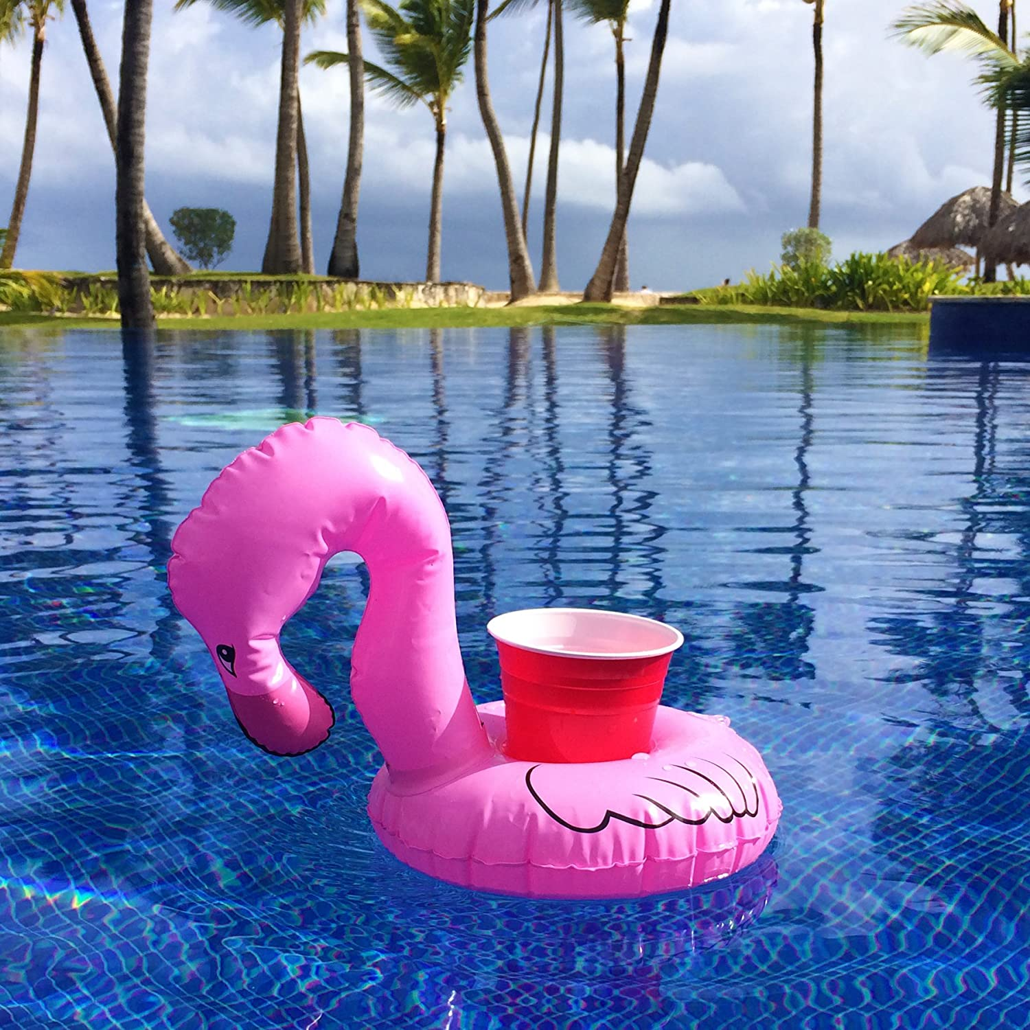 Amazon.com: GoFloats Inflatable Flamingo Drink Holder (3 Pack), Float Your  Drinks In Style: Toys U0026 Games