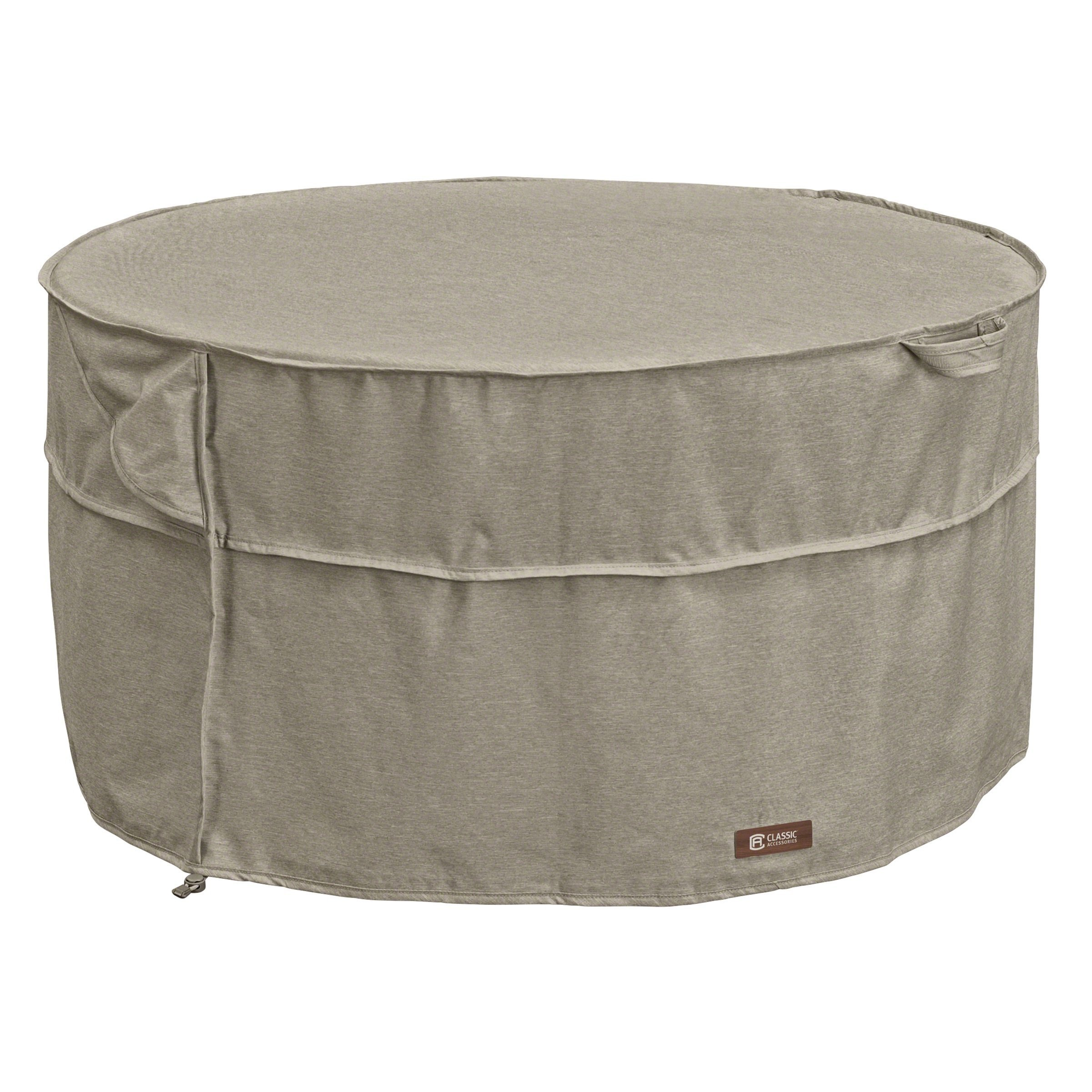 Classic Accessories 55-669-016701-RT Montlake FadeSafe Full Coverage Round Fire Pit/Table Cover, 42-inch
