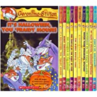 Geronimo Stilton 10 Book Collection Set (Volumes 11-20, Surf's Up, Geronimo ; My Name is Stilton, Geronimo Stilton! ; Shipwreck on the Pirate Islands ; Watch Your Whiskers, Stilton! ; A Cheese Colored Camper ; The Mona Mousa Code ; The Temple of the Ruby of Fire ; The Phantom of the Subway ; Merry Christmas, Geronimo ; It's Halloween, You Fraidy Mouse!)