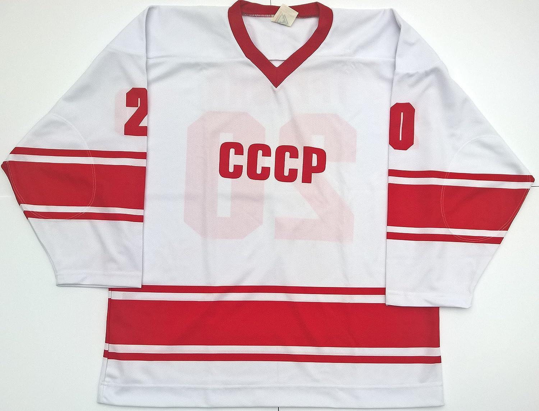 Amazon.com : Russian CCCP Hockey Jersey