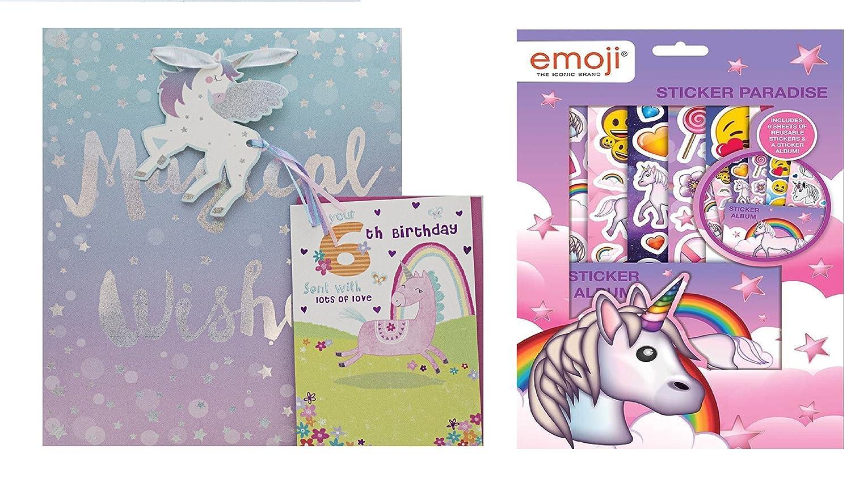 Unicornio 6º cumpleaños, edad 6, 6 hoy chica tarjeta de ...