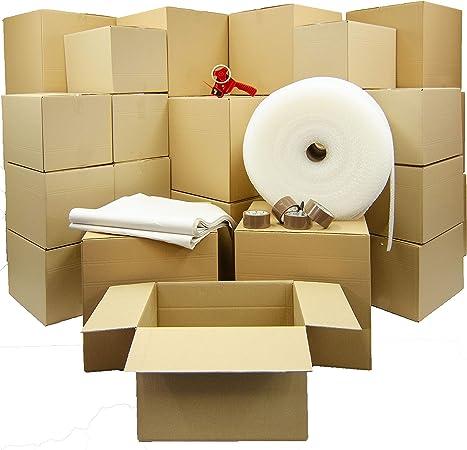 Moving Home Store Kit de mudanza de casa Grande – 51 Cajas de cartón de Embalaje Fuerte,