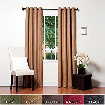 Amazon Com Chf Amp You Ultra Suede Tab Top Window Curtain