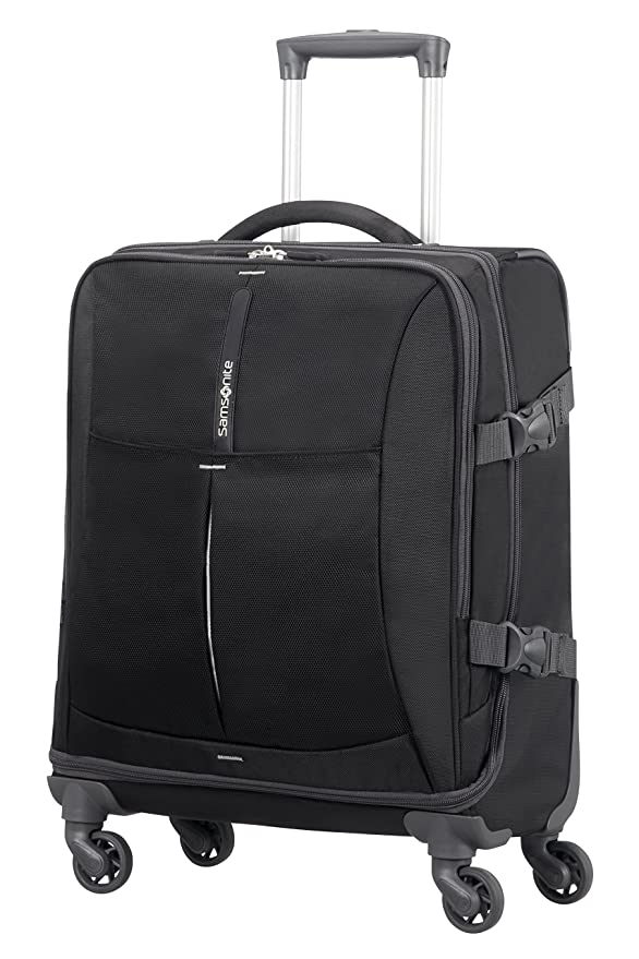 Samsonite 4mation Spinner Duffle Maleta, 55 cm, 39 litros, Color Negro/Plateado: Amazon.es: Equipaje