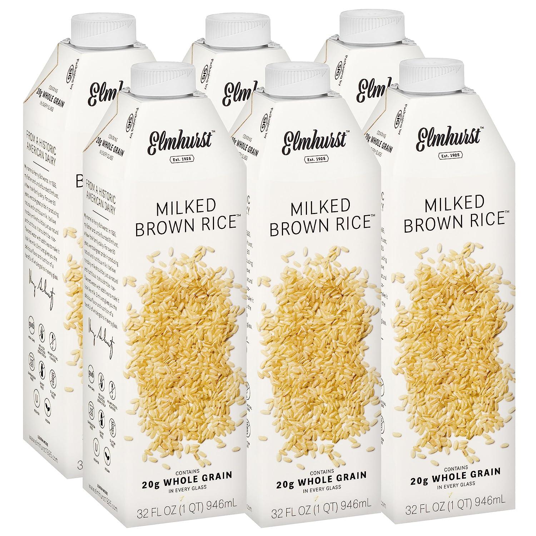 ad4f5e0772e7 Elmhurst Milked - Brown Rice Milk - 32 Fluid Ounces (Pack of 6 ...