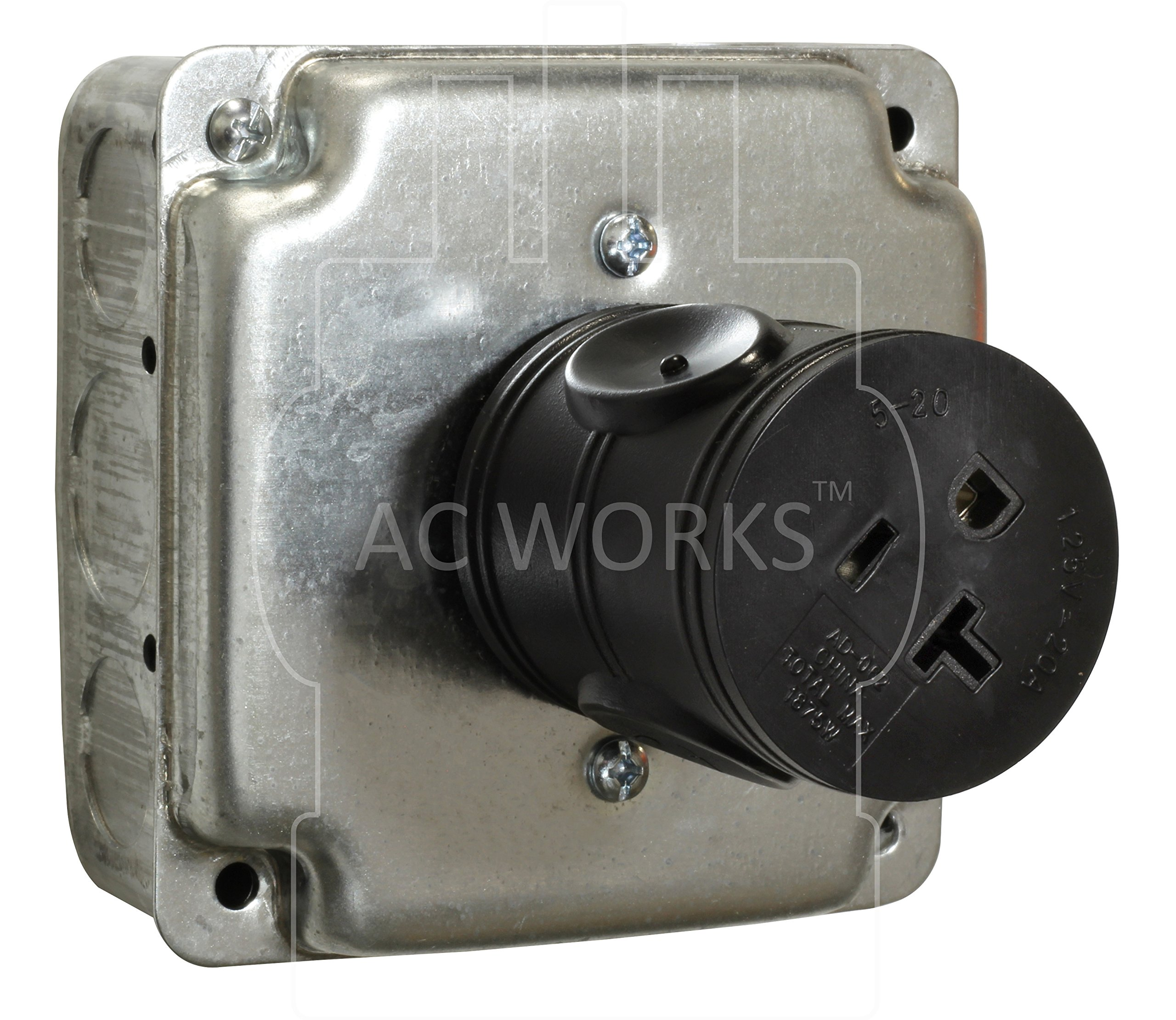 AC WORKS [ADL515520] Locking Adapter NEMA L5-15P 15Amp Locking Plug to Househole 15/20Amp Connector by AC WORKS (Image #4)