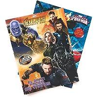 Marvel Avengers y Spiderman Libros para Colorear (Kit 2-en-1). Dos Libros para Colorear para Niños de 16 páginas. Incluye los personajes de Avengers Infinity War y Spiderman. Estimular Motricidad Fina. Entretenimiento y Aprendizaje Infantil. Kids Coloring Kit, Marvel Coloring Books.