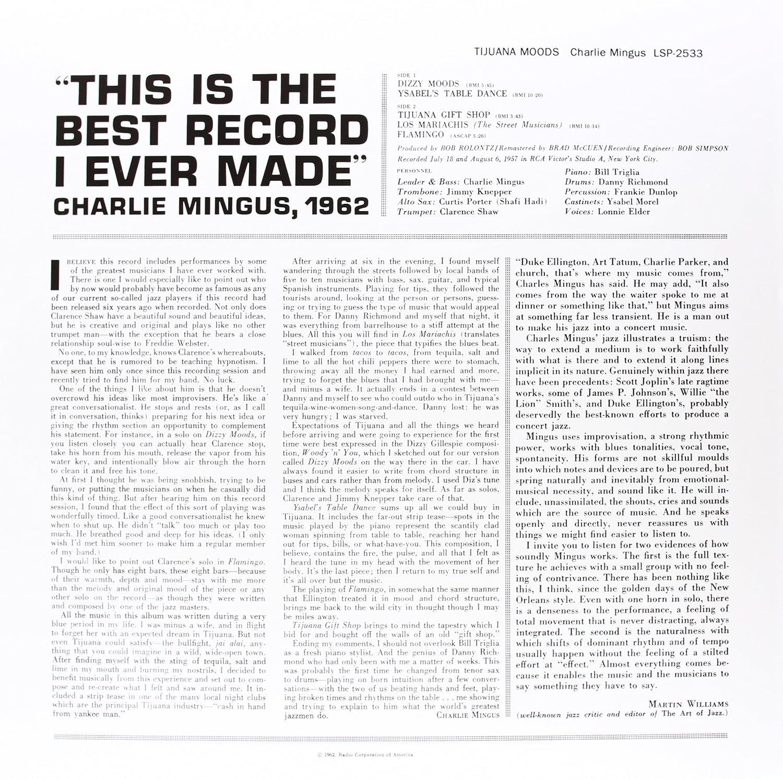 CHARLIE MINGUS - Tijuana Moods - Amazon.com Music