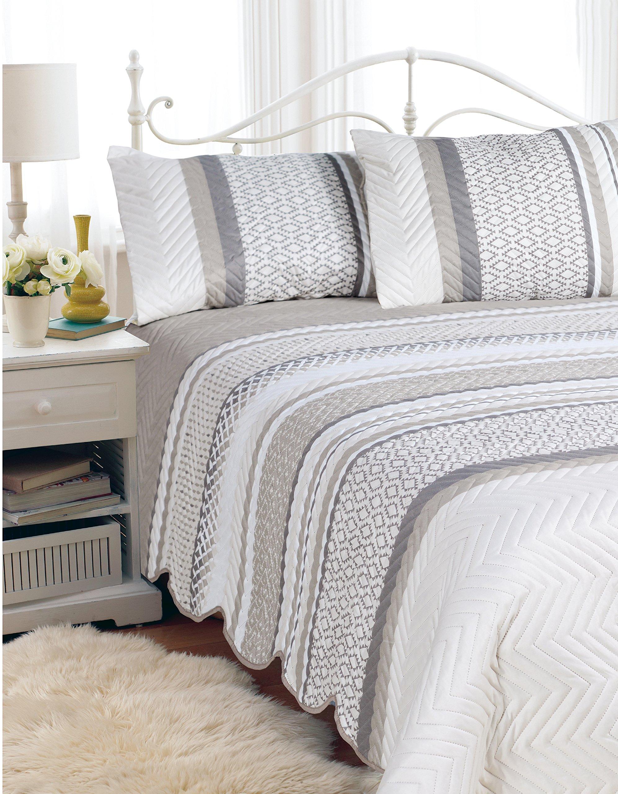 Hotel 07140'' Quilt Bedspread Set Aztec-D/Q Quilted Bedspread Set Aztec- Full/Queen