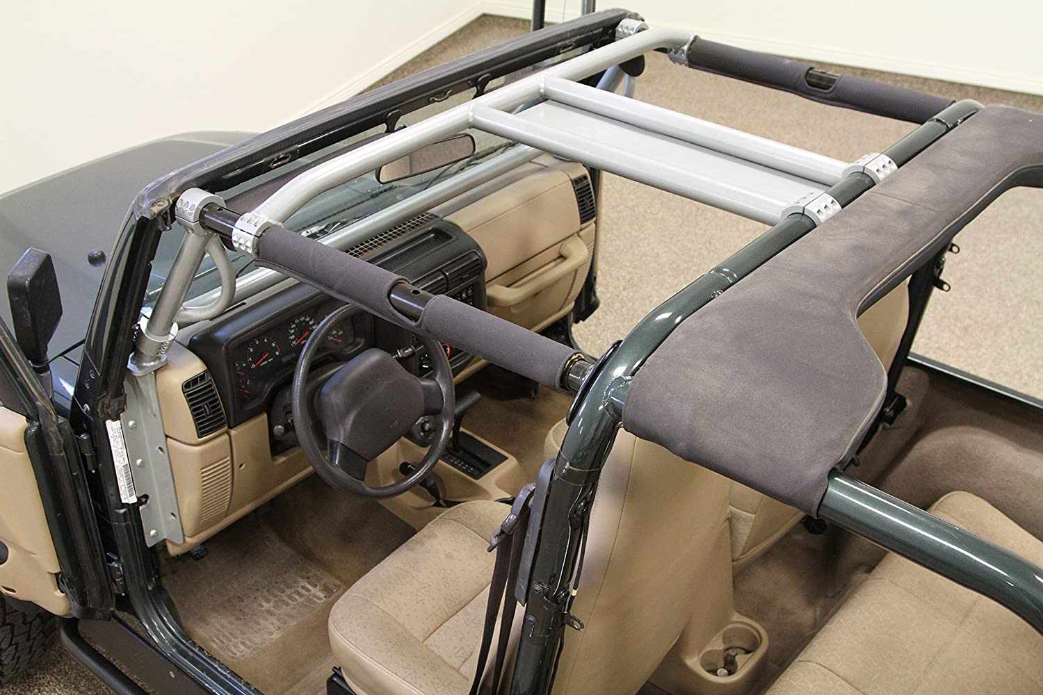 Rock Hard 4x4 Straight Across Front Harness Bar for Jeep Wrangler TJ and Unlimited LJ 1997-2006