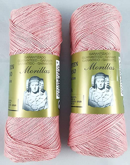 ▷ Pack de 2 Zepelines Ne 5/2 color salmón 2 de algodón perlé 100 ...