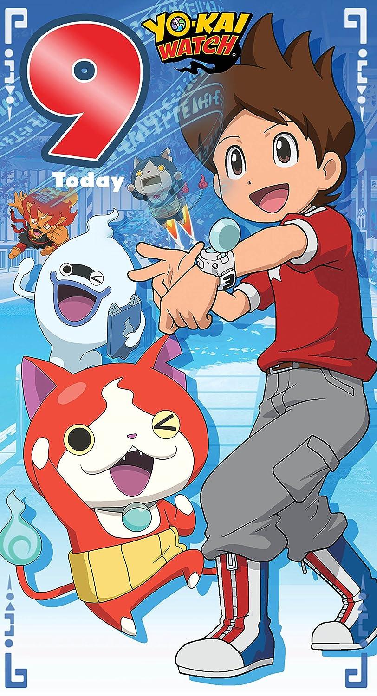 Yo-Kai reloj edad 9 Tarjeta de cumpleaños: Amazon.es: Oficina y papelería