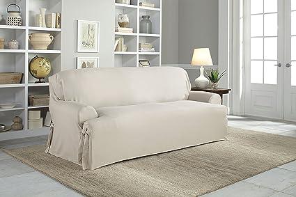 Amazon Com Serta Relaxed Fit Duck Slipcover T Cushion Decorator Set
