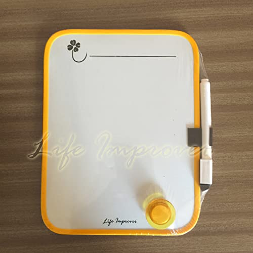 Yellow Notice On Front Door: Whitestrawberry A4 MAGNETIC WHITEBOARD SHEET MEMO BOARD