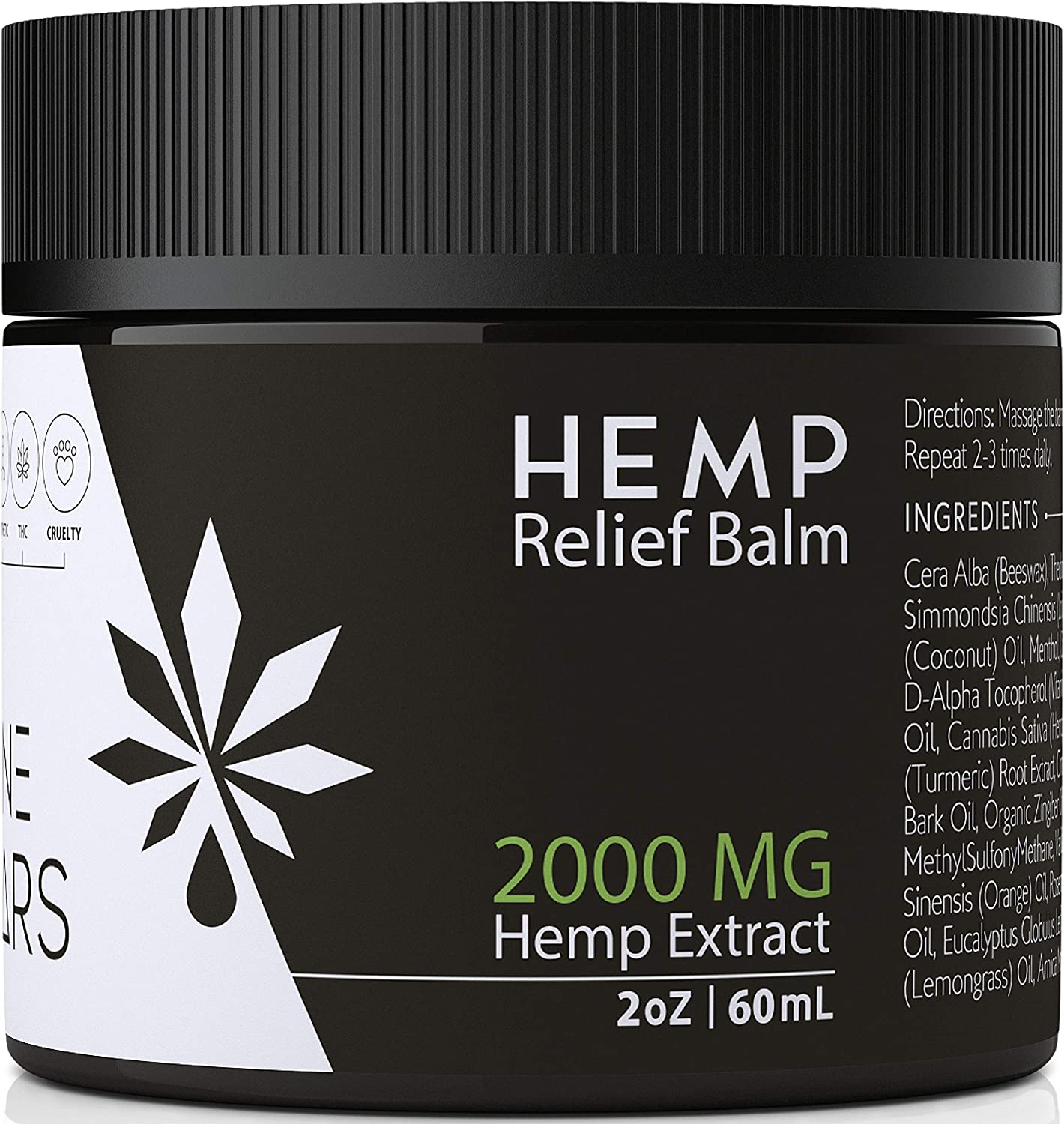 Divine Nectars Pain Relief Hemp Balm 2000 MG Hemp Salve for Pain Pain Relief for Back Pain Sciatica Nerve Fibromyalgia Shoulder Joint Knee Pain Anxiety Relief