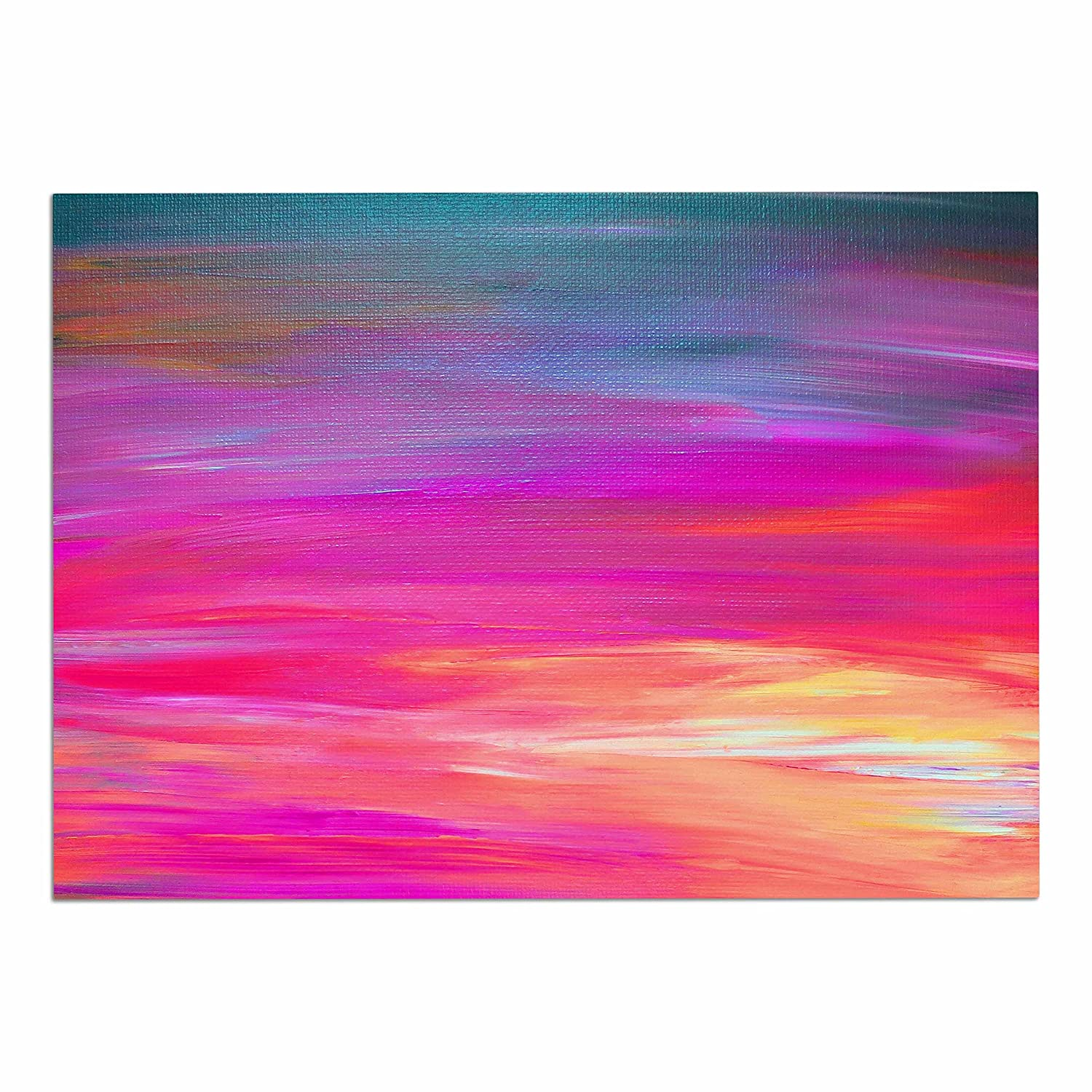 KESS InHouse JD1386ADM02 EBI Emporium Bright Horizons 2  Magenta Multicolor Painting Dog Place Mat, 24  x 15