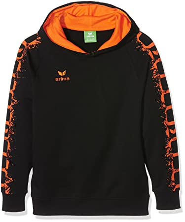 01f03fd038e5 erima Kinder Sweatshirt Graffic 5-C Hoodie, Schwarz Orange, 128 ...