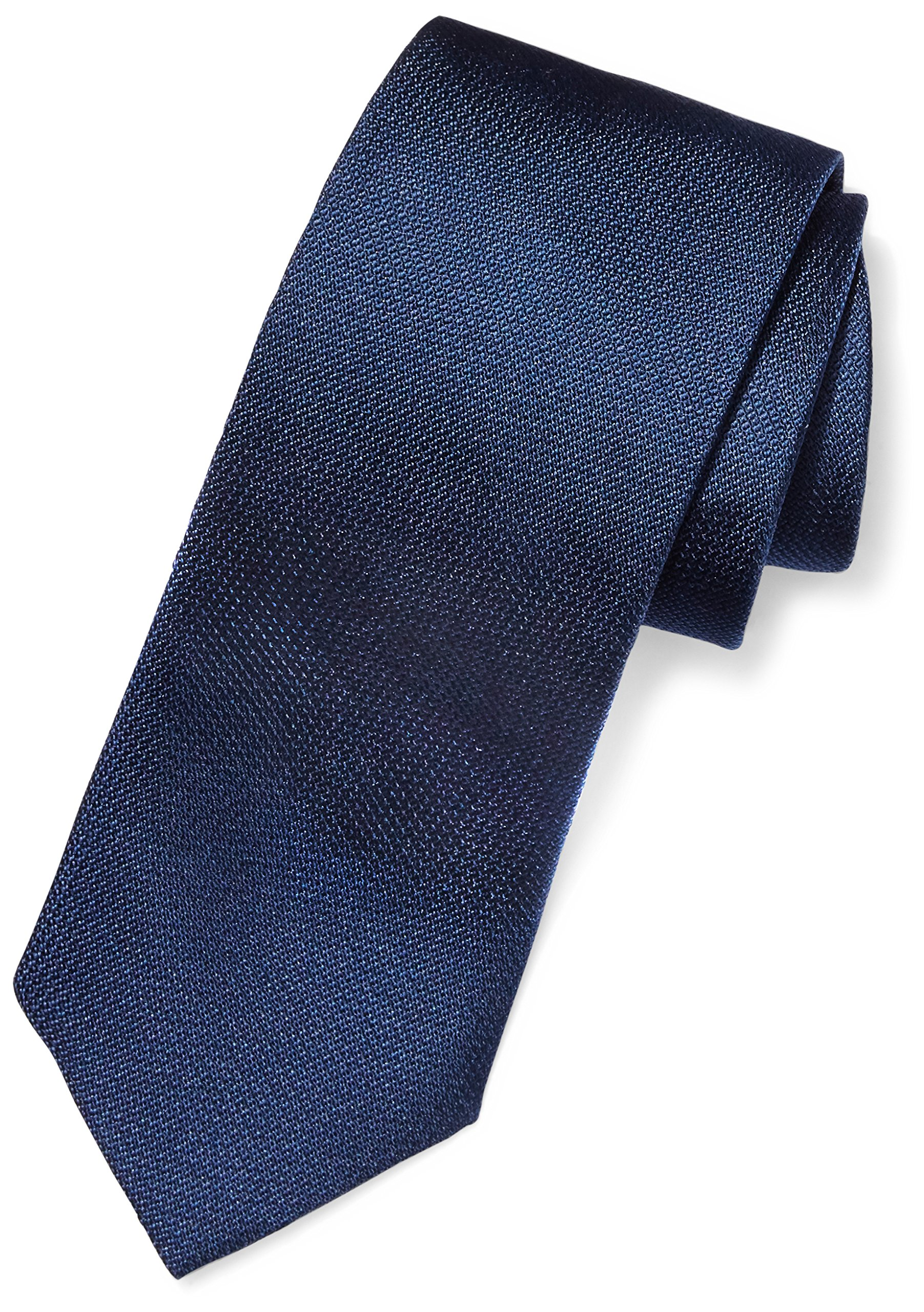 BUTTONED DOWN Men's Classic Silk 3'' Necktie, Navy Texture, Regular by Buttoned Down