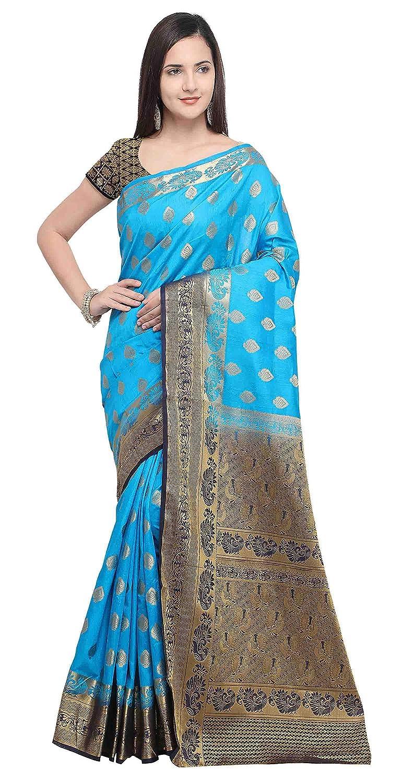 Light Blue Color Silk Saree with Blouse Piece