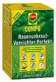 COMPO Rasenunkraut-Vernichter Perfekt, flüssiges Rasenherbizid-Konzentrat, gegen zweikeimblättrige Unkräuter im Rasen, 200 ml für 200 m²