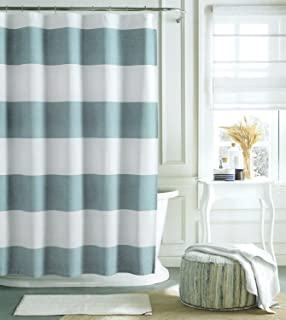 navy blue and white striped shower curtain. Tommy Hilfiger Cabana Stripe Shower Curtain  Light Blue and White 72 Amazon com CARO Home Fabric Wide Navy