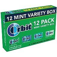 Orbit Sugarfree Gum, Mint Variety Box, 12 packs