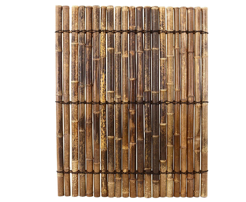 "Bambusrohr Zaun ""Apas11"" schwarz braun aus ganzen Bambusrohren 5"