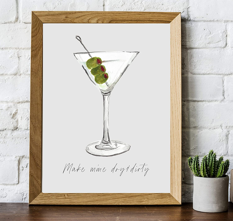 Amazon Com Martini Cocktail Bar Wall Art 8x10 Unframed