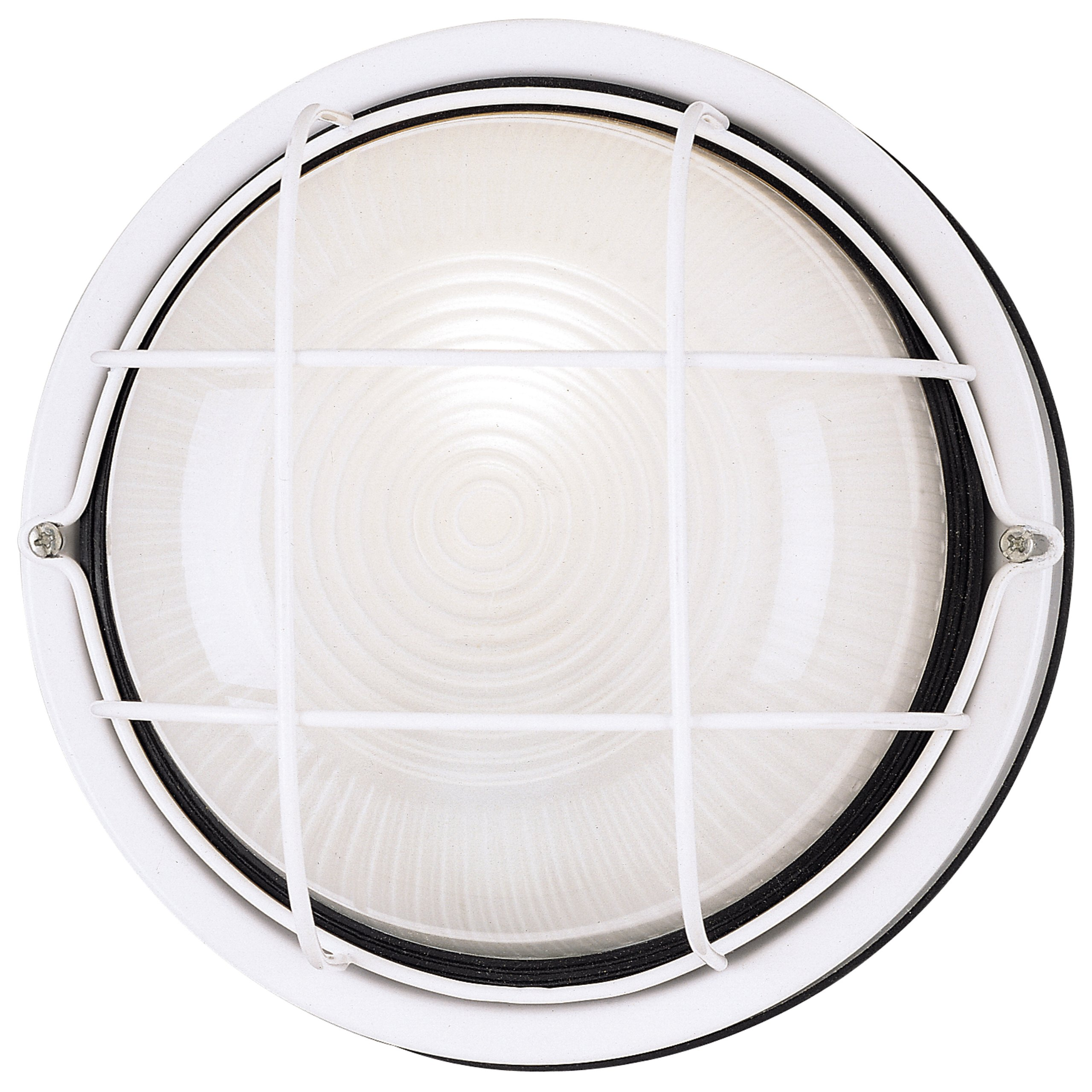 Westinghouse 6783600 One-Light Exterior Wall Fixture, White Finish on Steel with White Glass Lens