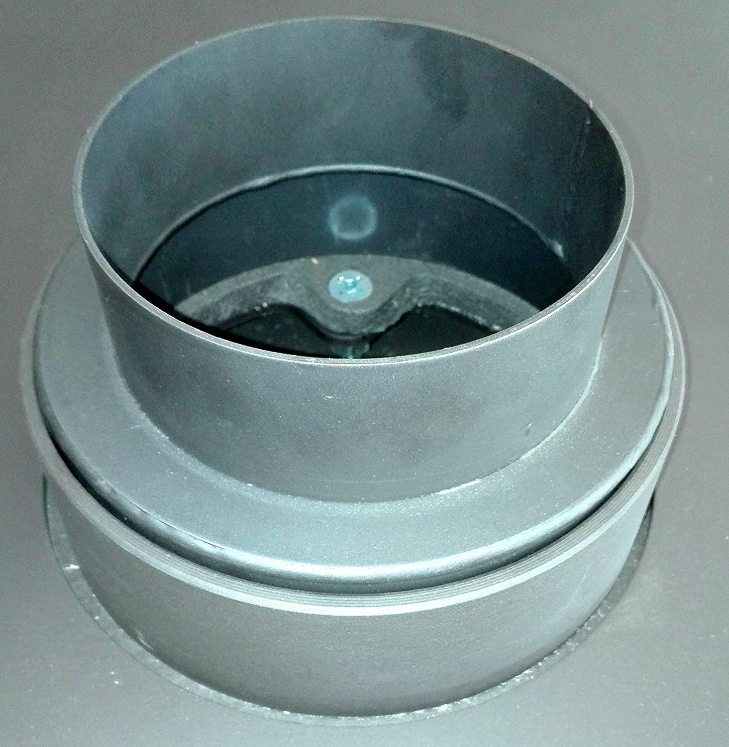 Duratherm Reducer to 120 Stove Flue Pipe /Ø 150mm 1,8mm Thickness Steel Gray Matt Approx. 6