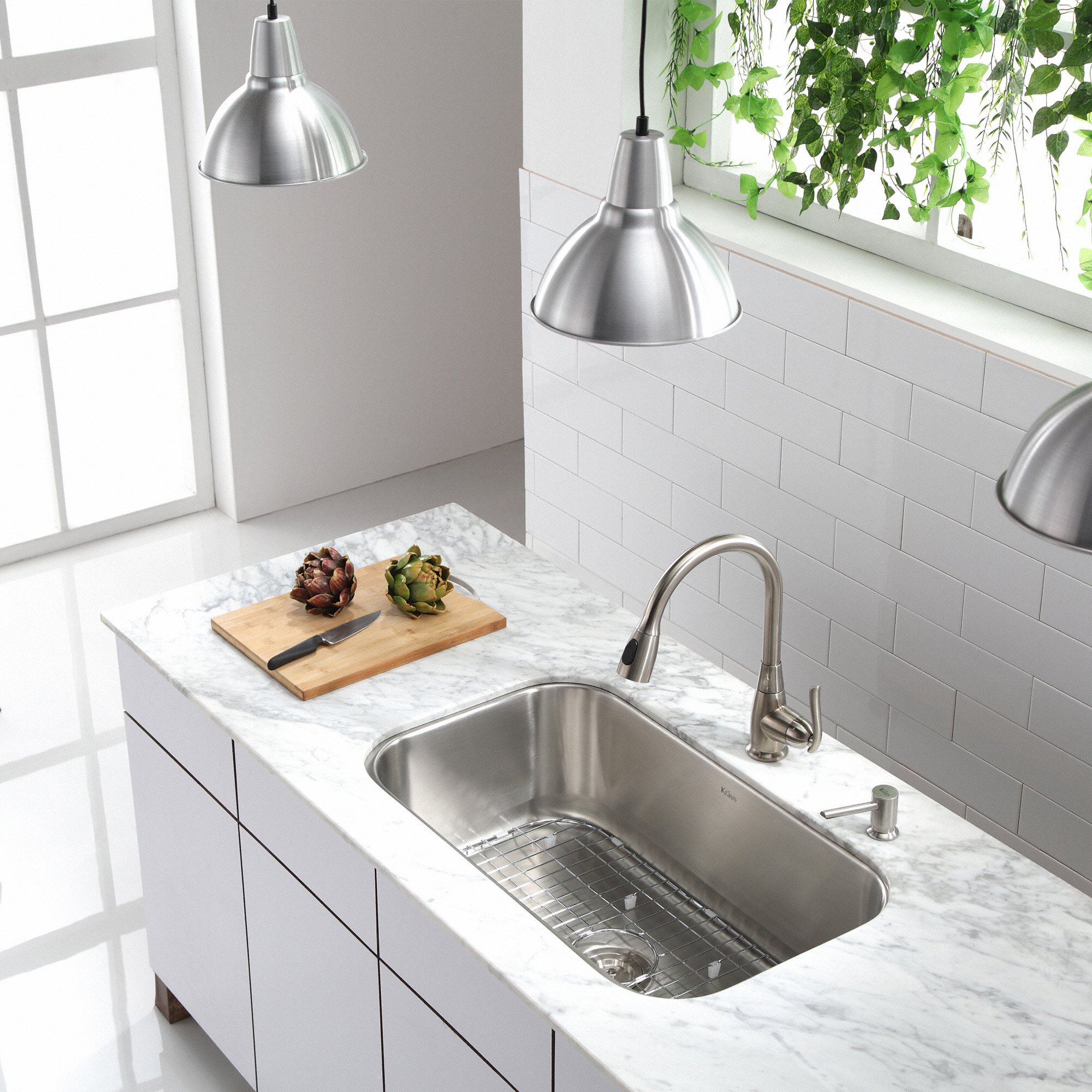 Kraus KBU14 31-1/2 inch Undermount Single Bowl 16-gauge Stainless Steel Kitchen Sink by Kraus (Image #12)