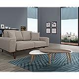 SHIITO Sofá Tres plazas diseño clásico. Color Gris.: Amazon ...