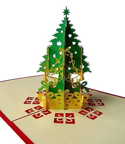 pu76 encantadora 3d pop up tarjeta con Sobre en Navidad ...