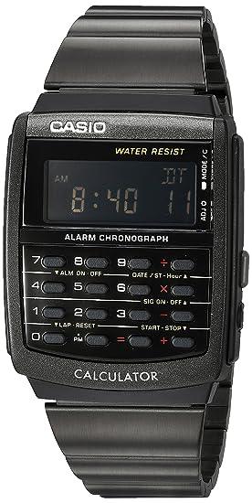 3f2efe73b89 Relógio Masculino Calculadora Aço Inoxidável Casio CA506B-1A - preto ...