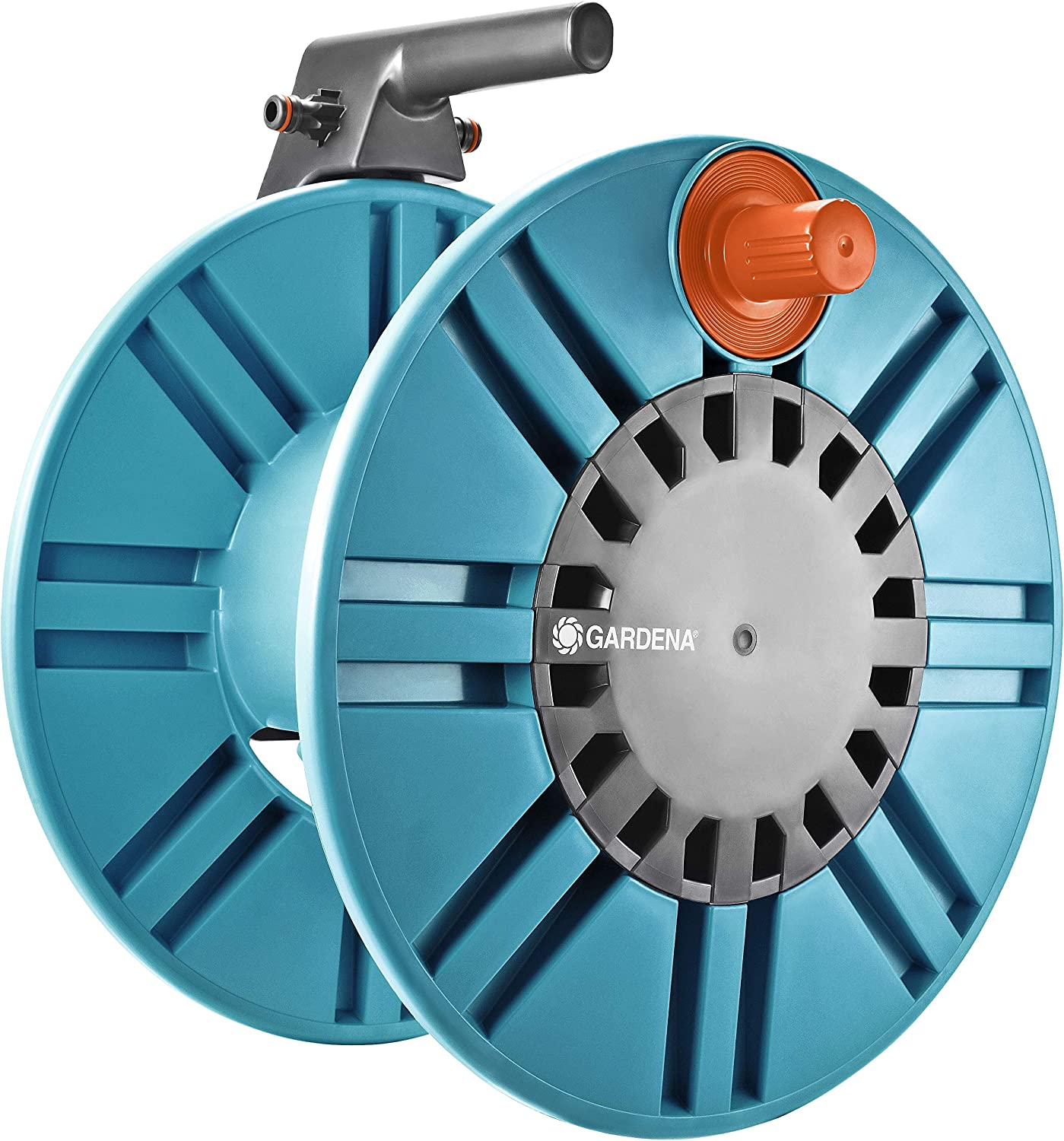 Gardena 2650 164-Foot Wall Mount Removable Garden Hose Reel With Hose Guide
