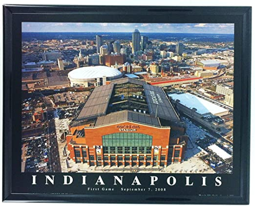 Amazon Com Framed Football Indianapolis Lucas Oil Stadium Aerial Photo Art Print F7574a Indianapolis Colts Pictures Posters Prints