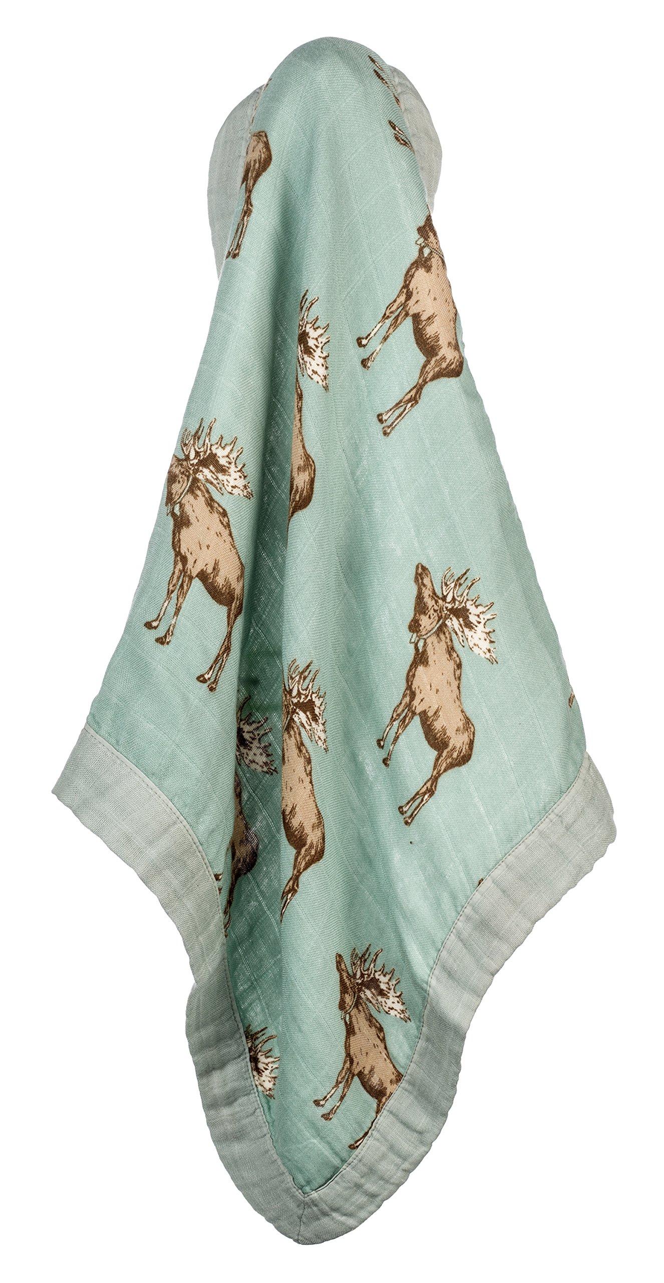 Milkbarn Mini Lovey Baby Blanket - Blue Buck 65068