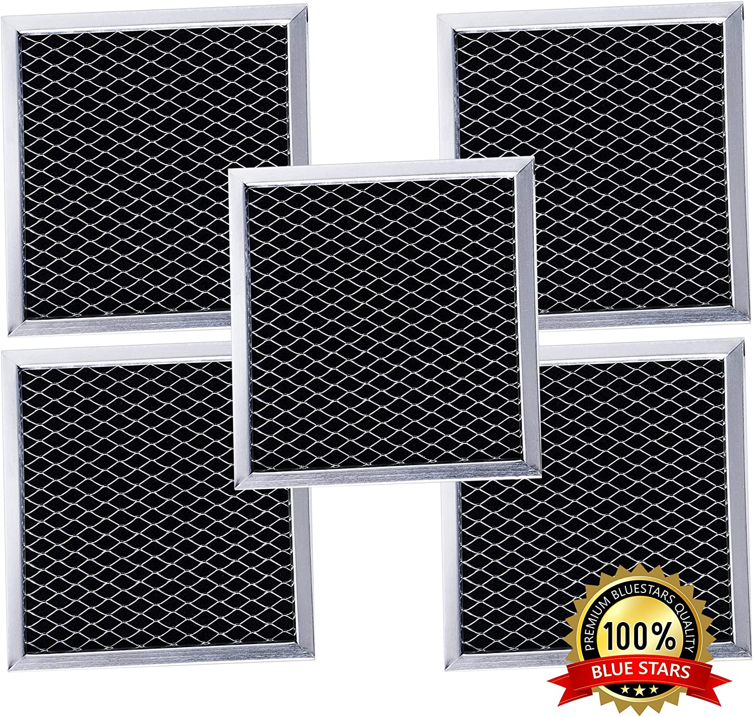 Ultra Durable 8206230A Microwave Charcoal Filter Replacement part by Blue Stars – Exact Fit For Whirlpool & Maytag Microwaves – Replaces 8206230 AP4299744 PS1871363 - PACK OF 5