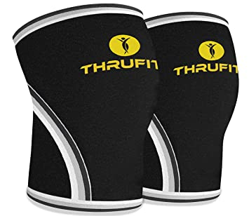 22d9432296 Knee Sleeve (1 Pair) 7mm Neoprene – Support & Compression for Squats,  Weightlifting