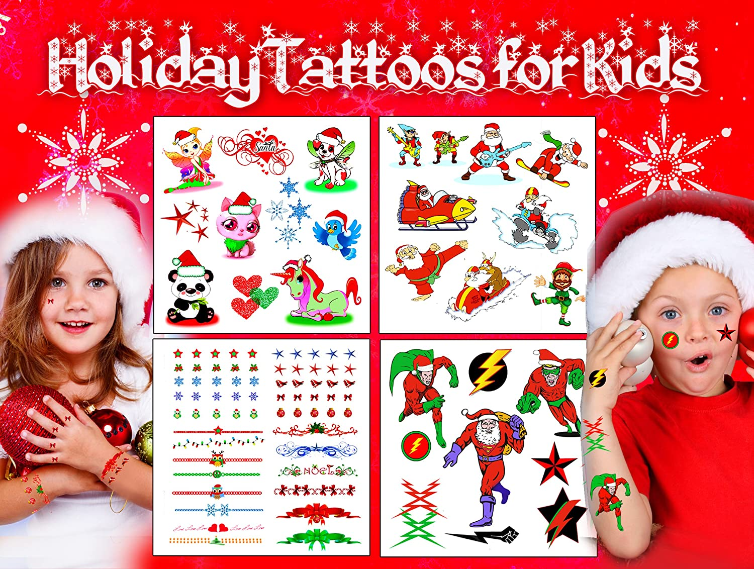 Christmas HolidayTattoos for Kids