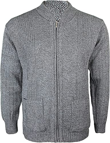 SportsX Mens Stay Warm Mix Color Round Neck Relaxed-Fit Knitwear