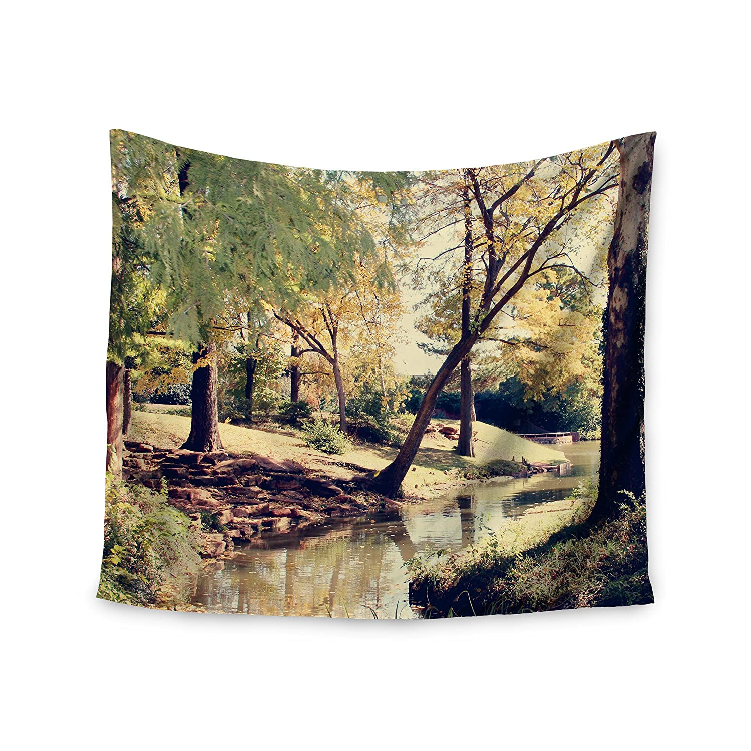 68 x 80 KESS InHouse Sylvia Coomes Walk In The Park  Green Photography Wall Tapestry