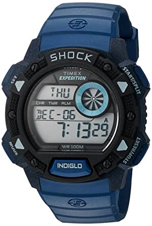 amazon com timex men s tw4b07400 expedition base shock blue black rh amazon com Timex Expedition Watches Men Timex Expedition Indiglo WR 50M