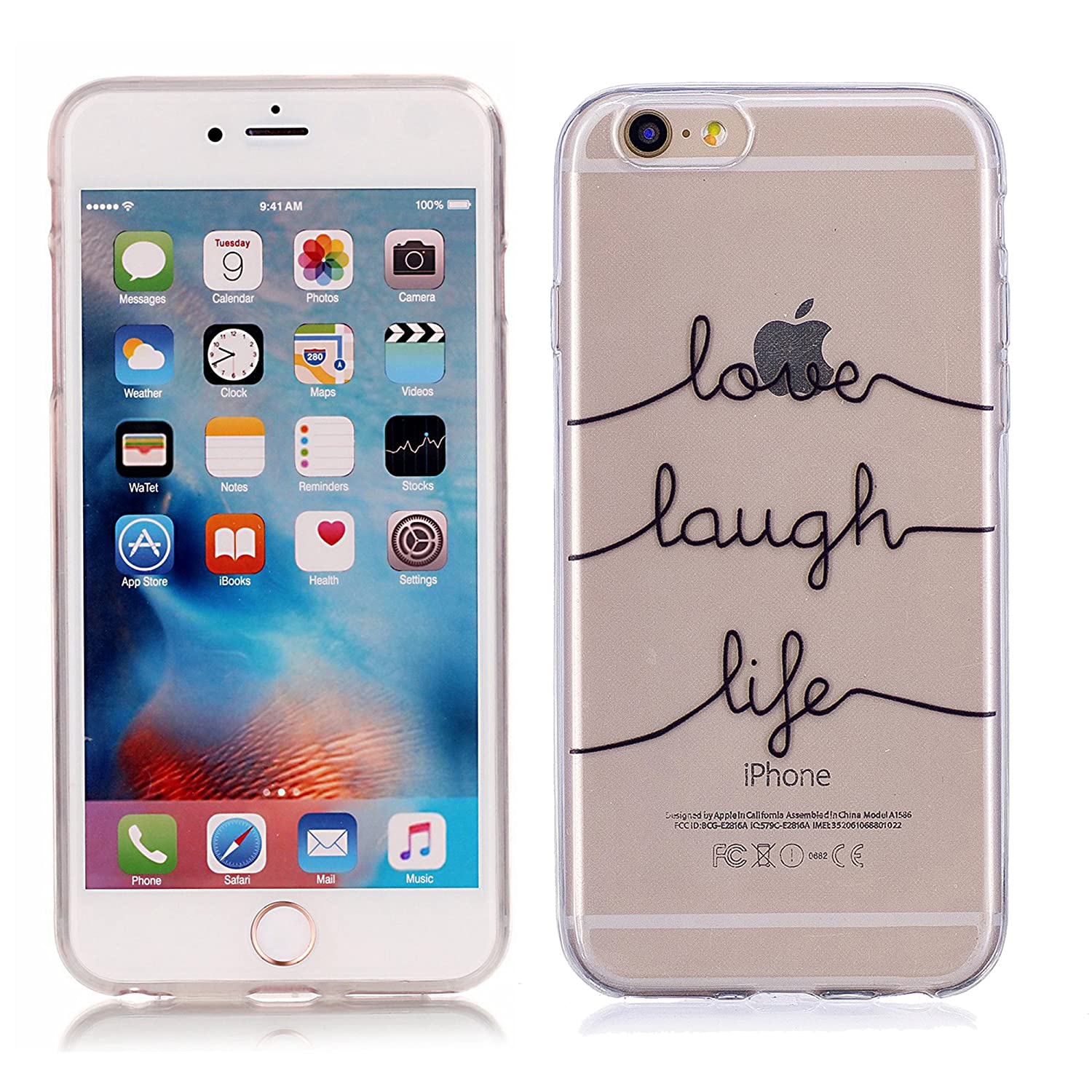 kazineer Cover iPhone 6 Cover iPhone 6S Ultra Sottile Posteriore