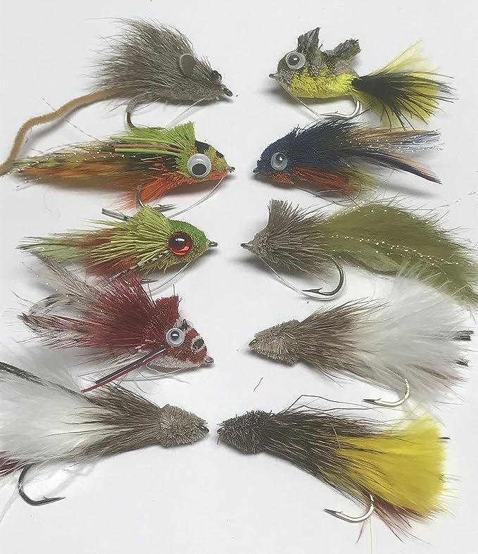 20 Mixed Muddler Fishing Flies In a Waterproof Fly Box