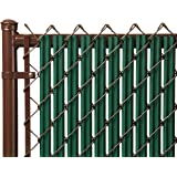 6ft Green Ridged Slats for Chain Link Fence