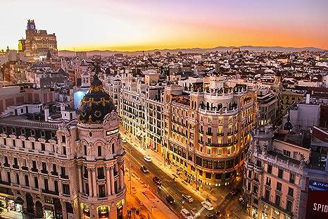 FOTOMURALIA Cuadro Madrid Gran VÍA IMPRESIÓN EN Lienzo ...